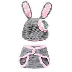 photography prop gray easter bunny