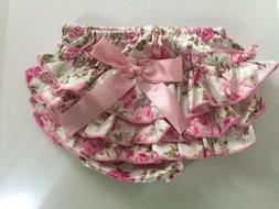 Pink Floral Baby Diaper Cover Underwear