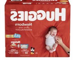 Huggies Plus Diapers Newborn with Skin Care Essentials Kit 1