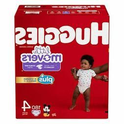 Huggies Plus Diapers Size 4: 22-37lbs, 180ct