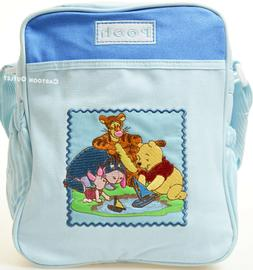 Disney Diaper Bag Tote Winnie the Pooh Infant Blue Baby Bott