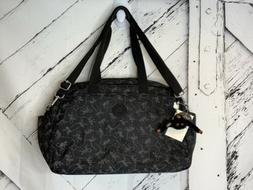 Kipling Popper Baby Diaper Travel Monkey Black Bag w/ Changi