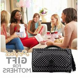 Portable Diaper Changing Pad Clutch, Travel Changer Kit for