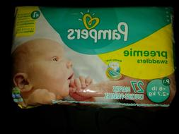 Pampers Preemie Swaddlers P-1 up to 6lb/2.7kg 20 ct. Umbilic