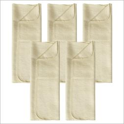 Prefold Diaper Booster Pads for Baby and Toddler, 100% Organ