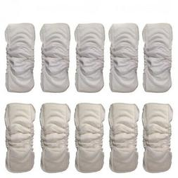 Pro 5 Layers Reusable Baby Bamboo Diapers Inserts Boosters N