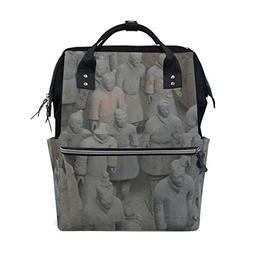 Qin Shi Huang Terracotta Warriors Diaper Bag Backpack for Wo