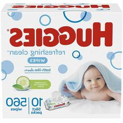 HUGGIES Refreshing Clean Scented Baby Wipes, Hypoallergenic,