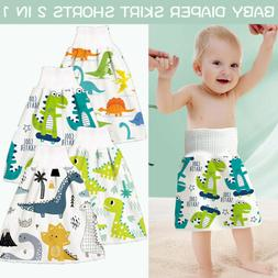 Reusable Baby Infant Diaper Skirt Shorts 2 in 1 Boy Girl Kid