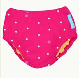 Charlie Banana Reusable Swim Diaper - Hot Pink/White Dot  -