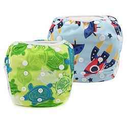 Reusable Swim Diapers Washable Swim Nappies with Adjustable