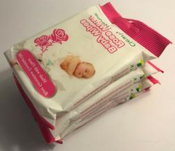 Clearly Herbal Rose Water All Natural Baby Wipes, FOUR 12-ct