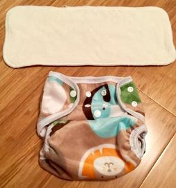 Bububibi Safari Cloth Diaper With Insert One Size Fit Most N