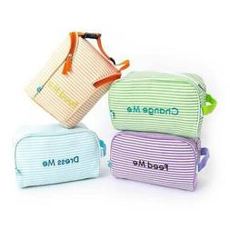 Easy Baby Travelers Seersucker Style Diaper Bag Organizer Po