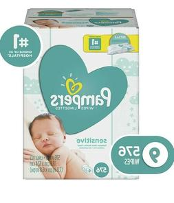 Pampers Sensitive Unscented Baby Diaper Wipes, 9 Refill for