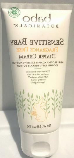 Babo Botanicals Sensitive Baby Zinc Fragrance Free Diaper Cr