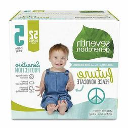 Seventh Generation Baby Diapers Size 5 52 Count Super Pack f