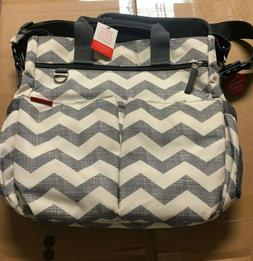 Skip Hop Messenger Diaper Bag With Matching Changing Pad, Du