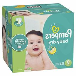 Size 1/2/3/4/5/6, 234 Count - Pampers Baby Dry Disposable Ba
