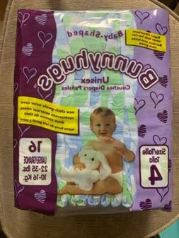 Bunnyhugs Size 4 large Unisex Baby Diapers 22-35lbs. One Box