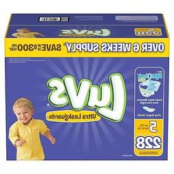 Luvs Ultra Leakguards Baby Diapers Size 5 228 Ct. Disposable