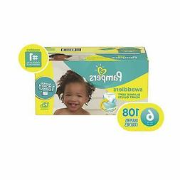 size 6 108 count swaddlers disposable baby