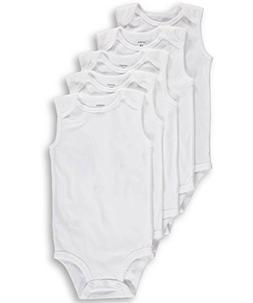 Carter's Unisex Baby 5-Pack Sleeveless Bodysuits - white/mul