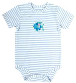 Stephan Baby Snapshirt-Style Diaper Cover, Blue Stripe Rainb