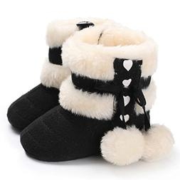 Snow Boots, FEITONG Baby Soft Sole Snow Boots Soft Crib Shoe