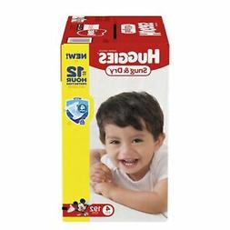HUGGIES Snug Dry Baby Diapers Size 4 fits 22-37 lbs 192 Ct E