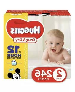 HUGGIES Snug & Dry Diapers, Baby Size 2, 246 Count  Pañales