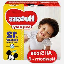 HUGGIES Snug & Dry Diapers Choose Size 1, 2, 3, 4, 5, 6 Newb