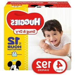 HUGGIES Snug & Dry Diapers, Size 4, 192Count