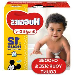 *NEW* HUGGIES Snug & Dry Baby Diapers Size Newborn, 1, 2, 3,