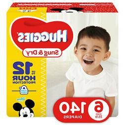 Snug Disposable Diapers & Dry Baby Diapers, Size 6 , 140