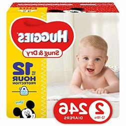 HUGGIES Snug Dry Diapers, Size 2, 246Count  FREE SHIPPING