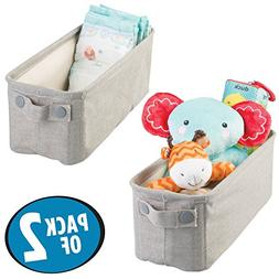 mDesign Soft Cotton Fabric Closet Storage Organizer Bin Bask