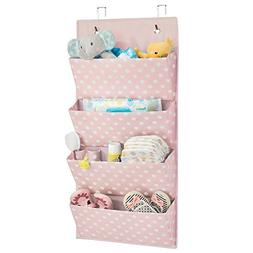 mDesign Soft Fabric Over The Door Hanging Storage Organizer
