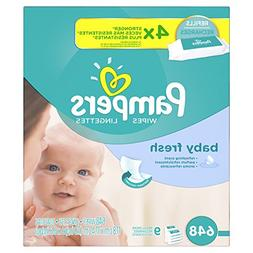 Pampers Soft & Strong Wipes Refills, Baby Fresh, 9 pk, 72 ea