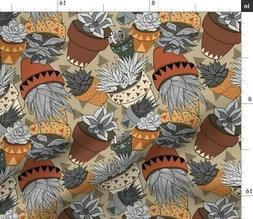 Southwest Geometric Baby Terra Cotta Flower Fabric Printed b