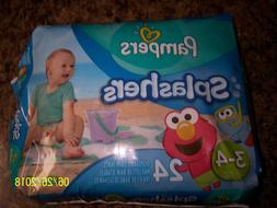 Pampers Splashers  Size 3-4 Disposable Pants -24 Diapers Per