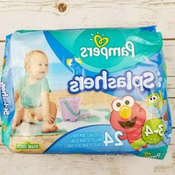 Pampers Splashers Swim Diapers Pants 24 Count Size 3-4 16-34