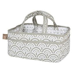 Trend Lab Art Deco Storage Caddy, Gray/White