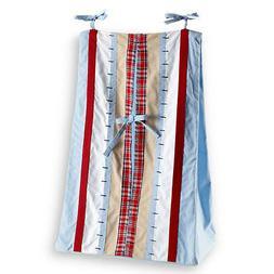 Bacati Stripes and Plaids Diaper Stacker, Multicolor wm m01