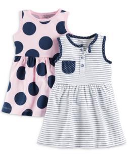 Carter's 2-Pk. Stripes & Dots Dresses, Baby Girls