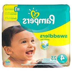Pampers Swaddlers Size 4, 23 Count Swaddlers Wetness Indicat