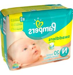 Pampers Swaddlers Baby Diapers Newborn Size  Up To 10 lbs