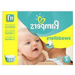 Pampers Swaddlers Diapers, Economy Pack, Size 2, 148 count