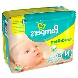 Pampers Swaddlers 12 Packs of 20 Size Newborn Diapers 240 Co