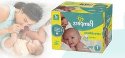 Pampers Swaddlers Diapers Size 1 198 Count One Month Supply